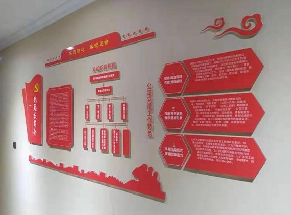 储渝石油办公室文化墙